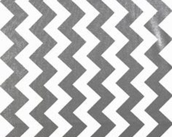 PADDED Ironing Board Cover made with Riley Blake Metallic Silver and white chevron select the size