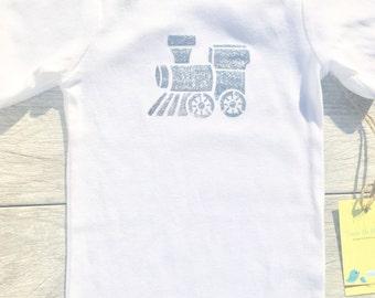 Kids - Train - Silver - Toddler T-Shirt or Baby Onesie