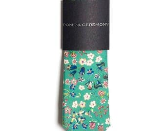 SKINNY TIE Pomp and Ceremony, Men's skinny tie, Liberty of London Donna Leigh mint