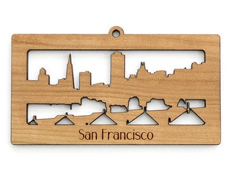 San Francisco Skyline - from Timber Green Woods. Sustainable Harvest Wood. Made in the USA!