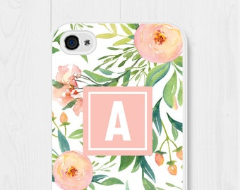 Peach iPhone 6s Case Floral iPhone 6 Case Samsung Galaxy S6 Case Pink iPhone 5c Case Cute iPhone 6 Plus Case Custom Phone Case iPhone 7