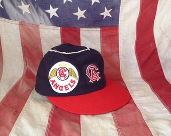 Vintage 60's Angels Baseball Cap with Halo and Patch / Angels Fan Hat / Small