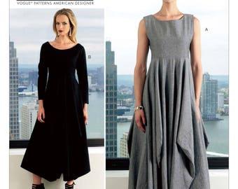 Vogue Dress Pattern V1312 by LYNN MIZONO - Misses' Pull-Over Full-Skirted Dresses - Vogue American Designer