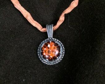Burnt Orange Fizz Mini Medallion