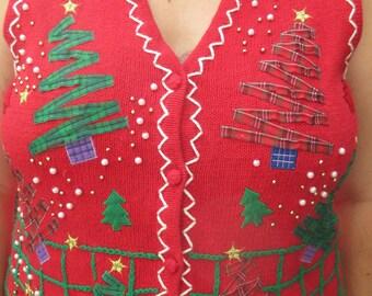 tacky christmas sweater, tacky sweater, chrismtas sweater, sweater, sweater vest, ugly sweater, ugly chrismtas sweater, tacky sweater party