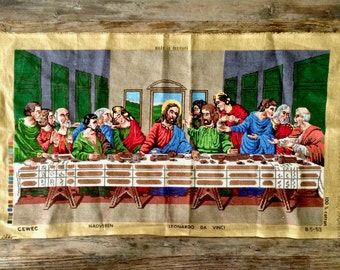 The Last Supper Cross Stitch Finished Remnant