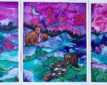 Goodnight Forest Prints (set of 3)