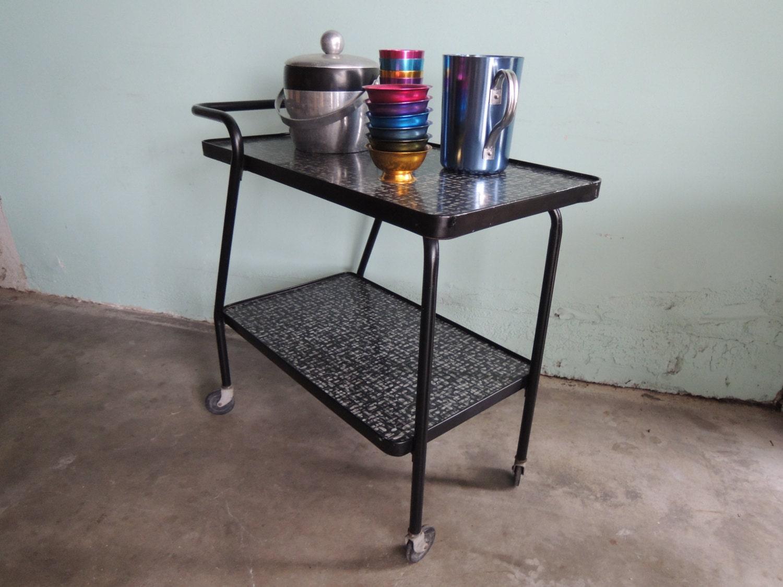 mid century modern retro bar cart los angeles. Black Bedroom Furniture Sets. Home Design Ideas