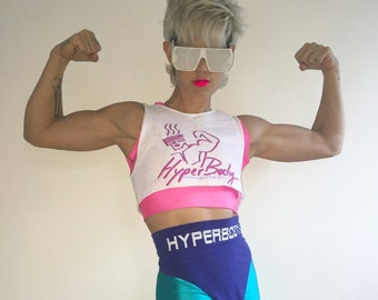 HyperBody muscle logo crop top