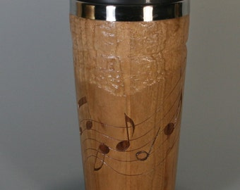 Cherry Travel Mug with Musical Notes