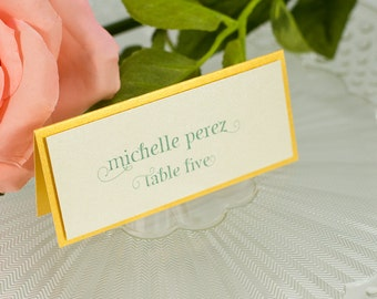 Double-Layered Seating Card
