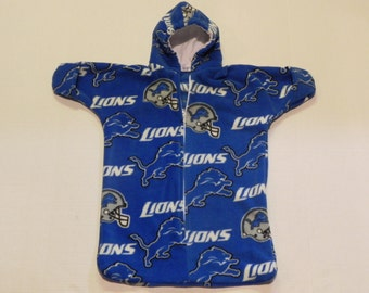 NFL DETROIT LIONS  Printed  fleece Baby snuggy  Bunting Coat Newborn to 6 months