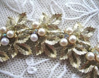 Vintage Goldtone & Pearl Bracelet ~ Judy Lee
