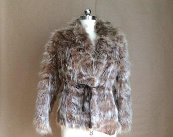 SALE! vintage 1970's raccoon fur jacket / fur coat / boho bohemian chic / fur / small size fur jacket / womens outerwear