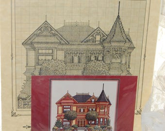 THE GINGERBREAD MANSION Cross Stitch Pattern
