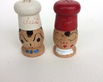 Vintage His & Hers Salt and Pepper Shakers Made in Japan