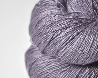 Withering lupin OOAK - Tussah Silk Lace Yarn