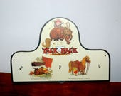 Norman Thelwell Aldridge England 3 hanger 1988 Tack Rack ~ Norman Thelwell synonymous with little girls and their little fat ponies