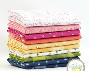 "Spectrum - Half Yard Bundle - 10 - 18""x44"" Cuts - by V and Co. for Moda Quilt Fabric"