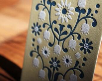 Letterpress Bell Flower Gift Tag