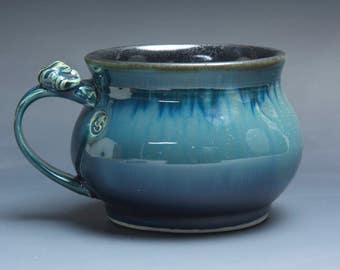 Handmade pottery soup mug ceramic chili mug cereal ice cream bowl 20 oz 3902