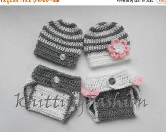 SALE 30% ON SALE Newborn Twin Outfits _NewBorn Baby Girl Twin Outfits _  Baby Twins Hospital Outfits_ Photography Outfit Baby Twins