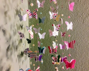 3D Origami mobile with butterflies