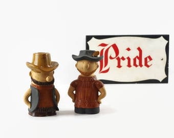 Holt Howard Salt and Pepper Shakers, Cowboy Figurines, Gay Cowboys
