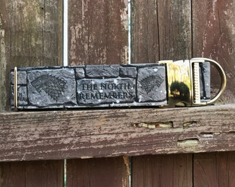 The North Remembers Game of Thrones House of Stark Dog Collars