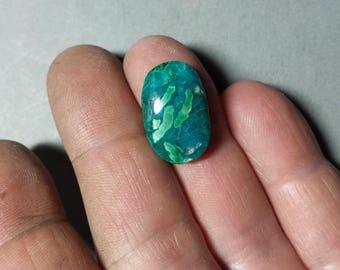 Inspiration Mine Gem Silica Chrysocolla Malachite Designer Cabochon