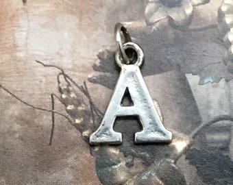 A Initial Charm Sterling Silver Vintage Jewelry for Bracelet Necklace