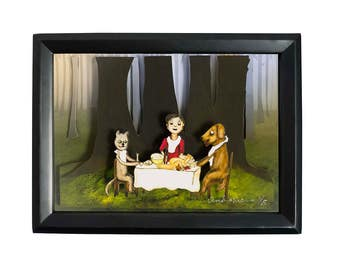 The Forest Feast- Limited Edition Shadow Box Wall Art