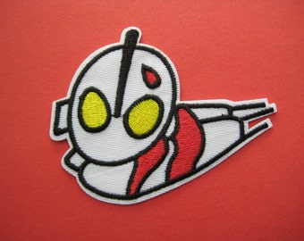 SALE~ 2 pcs Iron-on Embroidered Patch Flying Hero Ultraman 3.5 inch