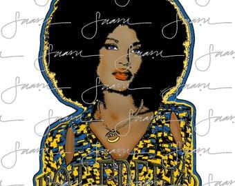 Got Greek? -  Sigma Gamma Rho Sorority - Afro Girl Tee