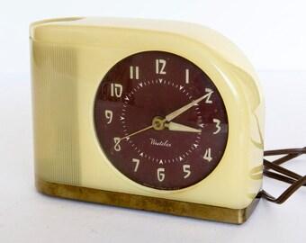 Moonbeam Art Deco Style Electric Alarm Clock
