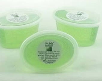 3 Bamboo Scented Gel Melts™ for tart warmers & burners hand poured by The Gel Candle Company™ Peel, Melt Enjoy The Aroma FREE SHIPPING