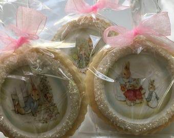 Classic Peter Rabbit Shortbread Cookies Party Favors