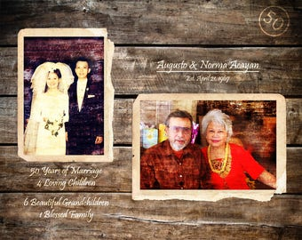 Parents 50th Anniversary Gift Golden Anniversary 50 Years Of Marriage Parents Anniversary Gift Home Decor Gifts For Parents  16x20