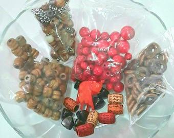 Destash mixed wood beads