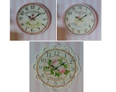 """1:12 SCALE DOLLHOUSE MINIATURE - Only 1.25"""" Inch - Cupcake Wall Clock"""