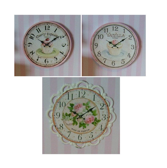 "1:12 SCALE DOLLHOUSE MINIATURE - Only 1.25"" Inch - Cupcake Wall Clock"