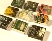 Nine horror books, dollhouse size, miniature, including Dracula, horror stories, ghost tales, and more!