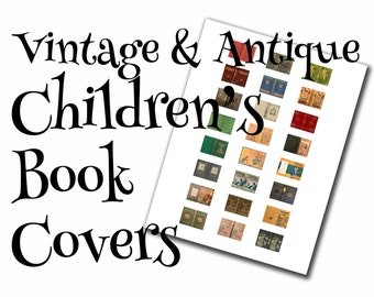 Vintage children's dollhouse book covers, 1:12, PDF digital file, three sizes, 24 styles, 72 book covers!