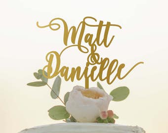 First Names Cake Topper - Custom Name Cake Topper - Wedding Cake Topper - Personalized Wedding Cake Topper - Name Cake Topper
