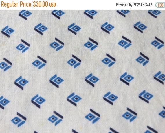 ON SALE Vintage Feedsack Fabric-Floral-Full Sack-Unopened- Feed sack-1930's-Blue Diamonds