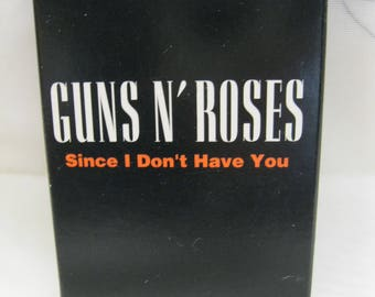 Guns N' Roses Cassette Single Since I Don't Have You USA