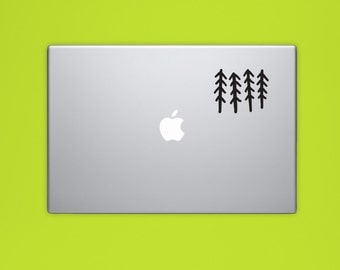 New! - TREES Vinyl Decal, Woodland Vinyl Sticker, Forest Laptop Sticker, Tree Computer Decal