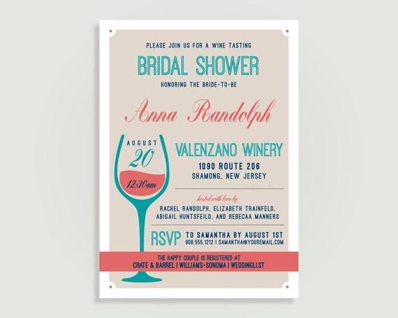 Winery bridal shower invitation wine tasting wine cheese il570xn filmwisefo