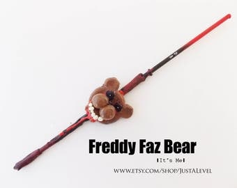 Five Nights at Freddy's Freddy Faz Bear Fiction Inspired Wand, Personality Trait, Dark Witch or Wizard