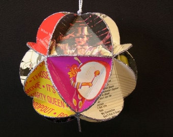 Broadway Shows Album Cover Ornament Made Of Record Jackets - Musical Theater Favorites